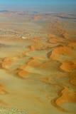 Namib Desert. Sossusvlei: Flying over the Namib Desert Stock Photo
