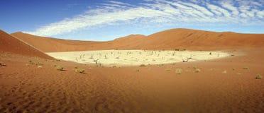 Namib desert, Sossusvlei, panorama Stock Image