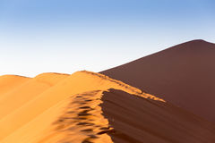 Namib Desert, Sossusvlei at sunset stock photography