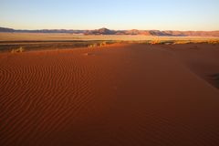 Namib dune and Tiras Mountains Stock Photos