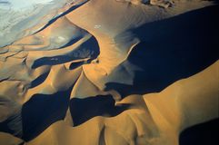 Namib-Naukluft公园deser鸟瞰图  库存图片