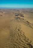 Namib-Naukluft National Park desert view from the air royalty free stock photography