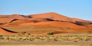 Namib-Naukluft National Park, Namibia, Africa. Beautiful landscape with red dunes at sunrise, Sossusvlei, Namib Naukluft National Park, Namibia, Africa stock photography