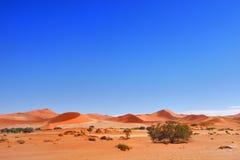Namib-Naukluft National Park, Namibia, Africa. Beautiful landscape with red dunes at sunrise, Sossusvlei, Namib Naukluft National Park, Namibia, Africa stock photo