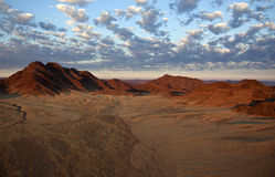 Namib-Nuakluft Desert - Namibia. Aerial view of the Namib-Nuakluft Desert near Sossusvlei in Namibia Royalty Free Stock Image