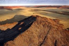 Namib-nuakluft Desert - Namibia. Aerial view over the Namib-nuakluft Desert near Sossusvlie in Namibia Stock Photos