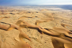 Namib pustyni widok z lotu ptaka Obrazy Royalty Free