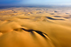Namib pustyni widok z lotu ptaka Fotografia Stock