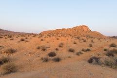 Namib pustynia przy zmierzchem, Aus, Namibia, Afryka komunalne jeden Moscow panoramiczny widok Zdjęcia Stock