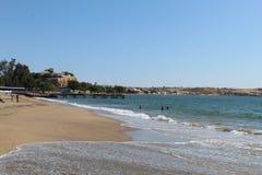 Namibe Angola. Praia oceano landscape stock photography