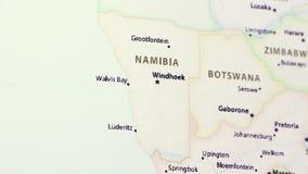 Namibië op een Kaart stock videobeelden
