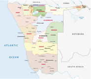 Namibia administrative map. The namibia administrative division  map Stock Photos