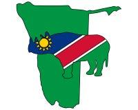 Namibia black rhino Royalty Free Stock Image