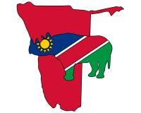 Namibia black rhino Stock Photo