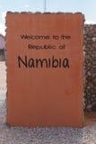 Namibia cross border Royalty Free Stock Photos