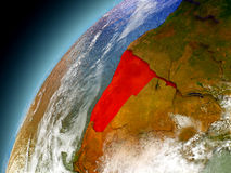 Namibia de la órbita de Earth modelo Imagenes de archivo