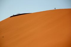 Namibia desert Africa. Dunes at sunrise in the Namibian desert in Africa Royalty Free Stock Image