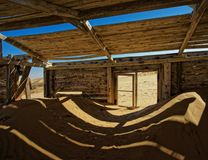 Namibia diamentowe kopalnie - zaniechane temu długo fotografia stock
