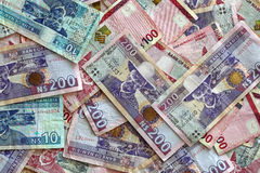 Namibia Dollars. Some two hundred Namibia Dollars Banknotes Stock Image
