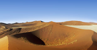 Namibia dunes summit Royalty Free Stock Image