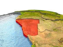 Namibia on Earth in red Stock Image