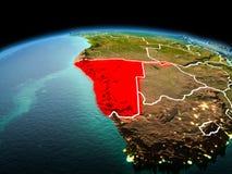 Namibia en la tierra del planeta en espacio Foto de archivo