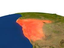 Namibia en rojo de la órbita stock de ilustración
