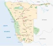 Namibia färdplan Royaltyfria Bilder