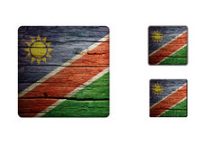 Namibia Flag Buttons Royalty Free Stock Photography