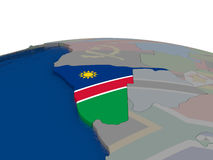 Namibia with flag Royalty Free Stock Photo