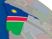 Namibia with flag Royalty Free Stock Images