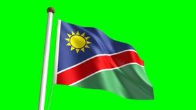 Namibia flag stock footage