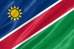 Namibia-Flagge stockfotos