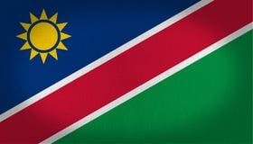 Namibia-Flagge Stockfotografie