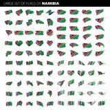 Namibia-Flagge, Vektorillustration Stockbilder
