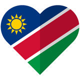Namibia flat heart flag Royalty Free Stock Photography
