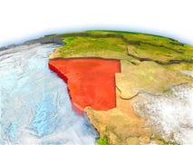 Namibia on globe Royalty Free Stock Photos