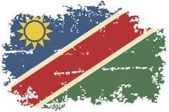 Namibia grunge flag. Vector illustration. Royalty Free Stock Image