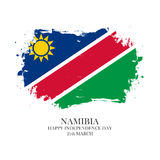 Namibia Independence Day, 21 march greeting card with brush stroke background. Stock Photo