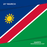 Namibia Independence Day, 21 march greeting card. Vector illustration Royalty Free Stock Photography