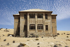Namibia kolmanskop house Royalty Free Stock Photo