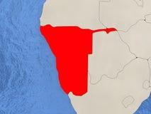 Namibia on map Royalty Free Stock Photos