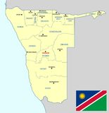 Namibia map - cdr format Royalty Free Stock Image