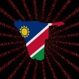 Namibia mapy flaga na czerwonej hex kodu wybuchu ilustraci Fotografia Royalty Free