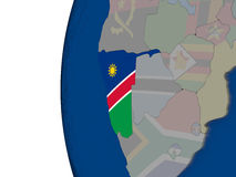 Namibia with national flag Stock Images