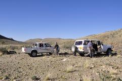 Namibia: Offroad-trip through the desert near Retdoog in Hardap. Adventure Offroad-trip through the desert in the region of Retdoog in Hardap Namibia royalty free stock images