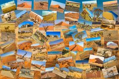 Namibia pictures collage Stock Photography