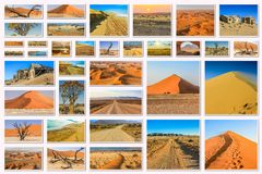 Namibia pictures collage Royalty Free Stock Photography