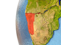 Namibia in red Stock Photo