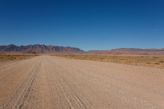 Namibia road. Dirt namibian road from Mariental to Sossusvlei Stock Images